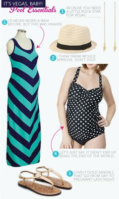 Love this summer maternity look!