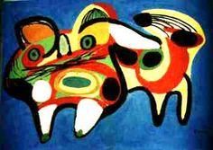 Wat is dit? Een stier of een hond? Ik blijf mezelf afvragen wat het is. Het kan van alles zijn, want in de kunst is alles mogelijk.
