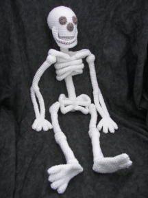 Just sitting around... Realistic Bona Fide Skeleton Crochet Amigurumi Pattern