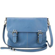 Blue Across Silent Time Series Handbag