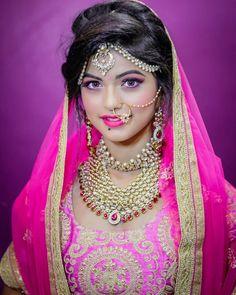 Beautiful Girl Indian, Beautiful Girl Image, Beautiful Saree, Beautiful Bride, Cute Little Girl Dresses, Cute Little Girls, Girls Dresses, Bridal Nose Ring, Hair Setting