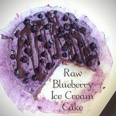 Mustikkainen raakajäätelökakku Blueberry Ice Cream, Cream Cake, Pie, Desserts, Food, Custard Cake, Torte, Tailgate Desserts, Cream Pie