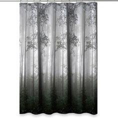 Morning Mist Shower Curtain - BedBathandBeyond.com