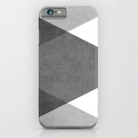 iPhone 6 Cases featuring black and white triangles by her art