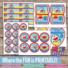 20off SALE Doraemon por Printnfun en Etsy, €15.65 Printable Tags, Printables, Doraemon Cake, Steven Universe Lapis, Anime Fnaf, Thank You Tags, Diy And Crafts, Party Ideas, Stickers