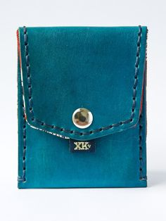 Blue with Red & Blue Paisley (Pocket Wallet)