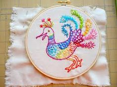 peacock embroidery - Google Search