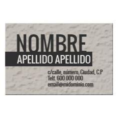 Tarjetas de Visita Una Cara Horizontal Texture Business Cards, Faces