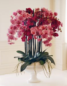 For The Entryway Or Foyer Phalaenopsis In Pedestal Bowl From Winward Home Fine Permanent Botanicals