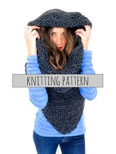 PATTERN for Chunky Soft Knit Poncho, Scarf, Cowl, Hood All in One // Armor Scarf PATTERN