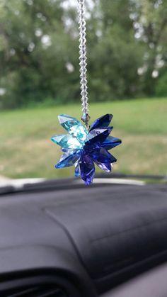 Swarovski crystal suncatcher crystal car charm by SercoDesigns