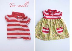 Awesome tutorials for reinventing kids' clothes when they are too small (or stained).  Great ideas for those things you just hate to let go of.