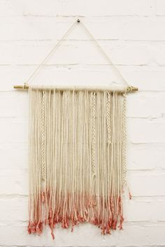 """DIY wall art... """"This is where I collect those strings that good 'ol Aunt Flo leaves after her visit."""""""