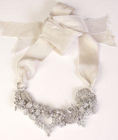 c1950s Floral Mosaic on silk, Karen Lindner Designs Bridal 2011
