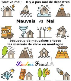"Do you know the difference between #French words ""mauvais"" and ""mal""? It wouldn't be a bad idea to read this lesson and find out. #lawlessfrench #learnfrench"