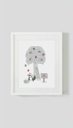 Apple season by ByBrokenTricycle on Etsy Apple Season, Tricycle, Original Art, Seasons, Book, Unique Jewelry, Handmade Gifts, Cards, Etsy