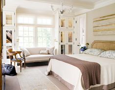 Chic and Contemporary Bedroom White Bedroom Design Ideas Beautiful Bedroom Designs, Beautiful Bedrooms, Beautiful Homes, House Beautiful, Dream Bedroom, Home Bedroom, Bedroom Decor, Bedroom Closets, Design Bedroom
