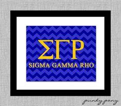 Your Sorority Fraternity Greek Wall Print - SIGMA GAMMA RHO - 8x10 Wall Art - Big Lil Sis Brother - Alumni