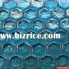 Bathroom wall tile? Yep I think so.  ......  hexagonal recycled glass mosaic tile iridescent glass tile for glass tile backsplash hotel wall and floor decoration