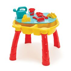 Shop Out and About Sand and Water Play Table at Early Learning Centre. Learning Centers, Early Learning, Sand And Water Table, Outdoor Toys For Kids, Bubble Machine, Tall Table, Little Tikes, Pool Toys, Water Play