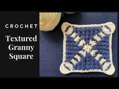 3D Textured Granny Square | 3D Crochet Square - YouTube Crochet Motif, Crochet Hats, Joining Granny Squares, Corner, 3d, Texture, Youtube, Pattern, Knitting Hats