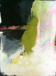 """Transparent words"" - mixed media on canvas - natalie baca"