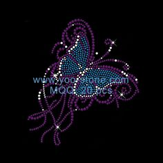 Hot Fix Rhinestone Butterfly For T Shirt