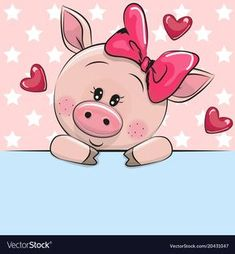 Greeting card cute Cartoon Pig is holding a placard on a stars background love cartoon Stockfoto- und Stockbild-Portfolio von Cartoon Kunst, Cartoon Drawings, Animal Drawings, Cartoon Art, Cute Drawings, Cartoon Giraffe, This Little Piggy, Little Pigs, Cute Cartoon Faces