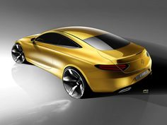 Mercedes-Benz C Class Coupe Design Sketch - Car Body Design Auto Design, Design Autos, Automotive Design, Design Cars, Mercedes Benz, Mercedes World, Mercedes C Class Coupe, Car Design Sketch, Car Sketch