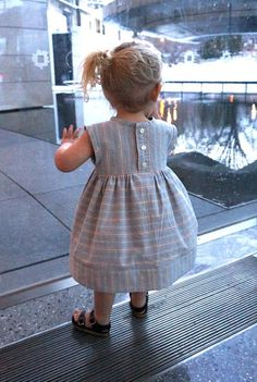 men's dress shirt into little girl dress by Brooklyn Pattern Co.