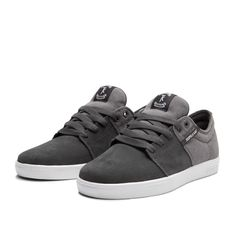 SUPRA STACKS Shoe | CHARCOAL - WHITE | Official SUPRA Footwear Site