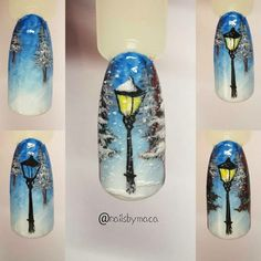 Christmas Nail Designs - My Cool Nail Designs Nail Art Noel, Xmas Nail Art, Xmas Nails, Winter Nail Art, Holiday Nails, Winter Nails, Christmas Nails, Christmas Nail Art Designs, Winter Nail Designs