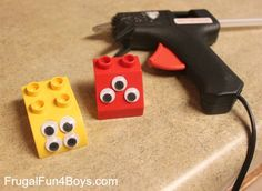 Love this idea for making your own Duplo monsters (by Frugal Fun for Boys)