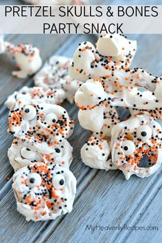 A recipe so easy your kids can make it themselves! Whether for a cool afternoon snack or for your Halloween Party these Skull & Bones Halloween Party Snack is super fun for children of all ages.