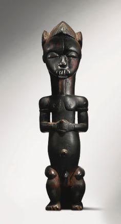 Fang-Mvaï Reliquary Figure, Ntem Valley, Gabon Height: 17 1/8 in (43.5 cm) Reportedly Paul Guillaume, Paris