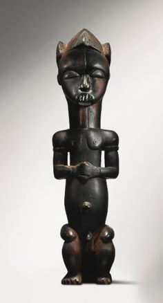 Fang-Mvaï Reliquary Figure, Ntem Valley, Gabon Height: 17 1/8 in (43.5 cm) Reportedly Paul Guillaume, Paris