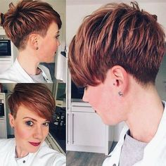 Best Short Layered Pixie Cut Ideas 2019 - The UnderCut Best Short Layered Pixie Cut Ideas In every period of rapidly changing hair trends, short pixie cuts can be an excellent experience Girl Short Hair, Short Hair Cuts, Short Hair Styles, Pixie Cuts, Great Hairstyles, Pixie Hairstyles, Ladies Hairstyles, Shaved Hairstyles, Undercut Hairstyles
