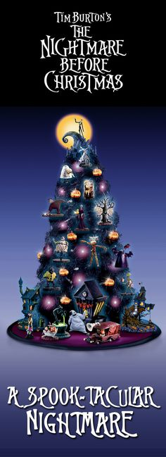 Share thrills and chills with the Tim Burton's The Nightmare Before Christmas Tabletop Tree Collection!