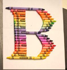 DIY Crayon Monogram