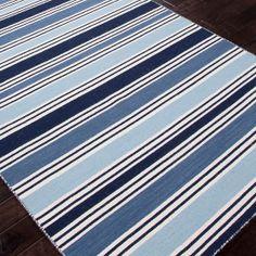 Bradley Stripe Rug - Beautiful shades of blue