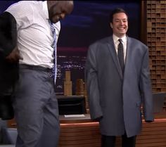 Jimmy Fallon and Shaq trade jackets