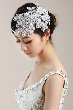 A little sparkle adds spunk to a wedding day. Hair Barrettes, Headbands, Wedding Bride, Wedding Day, Trends, Crystal Flower, Hair Jewelry, Headpiece, Your Hair