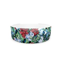 Kess InHouse DLKG Design Giardino Pet Bowl 475Inch Garden Flowers *** Click image for more details.