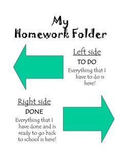 back to school homework folder templates