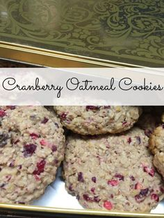 Cranberry Oatmeal Cookies - Nancy On The Home Front