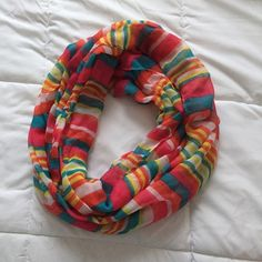 Infinity scarf 100% polyester. Not from listed brand Victoria's Secret Accessories Scarves & Wraps