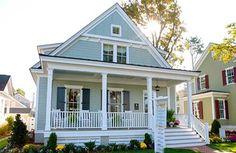 Coastal Home Plans - Batten Bay Cottage Master on 1st floor.  2472 Sq. ft.