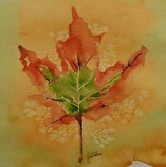Fall Leaf Painting by Gretchen Bjornson