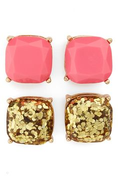 Shiny faceted stones in pink and gold glitter give any look a touch of glow in a classic four-prong setting @nordstrom #nordstrom