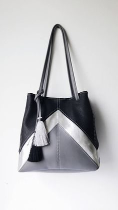 4a0f6524cbf6 Black vegan handbag .Crossbody vegan bag. Grey bag. Black shoulder bucket  bag. Crossbody bucket bag.Minimalist women bag